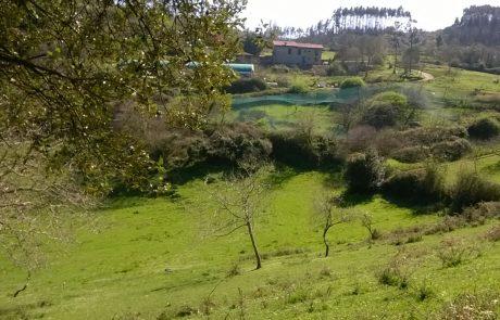 Vista de la granja de la Casería de los Valles